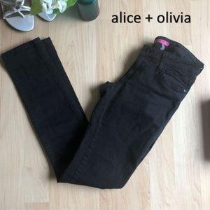 Alice + Olivia Black Jeans